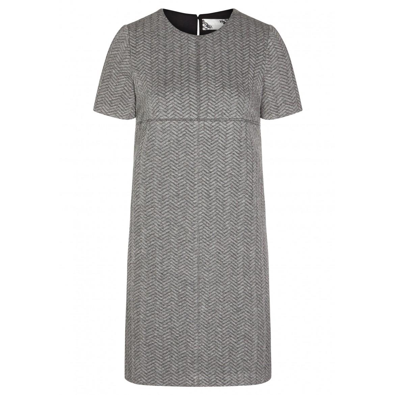 Modernes Kleid JULIA mit stilvollem Fischgräten...