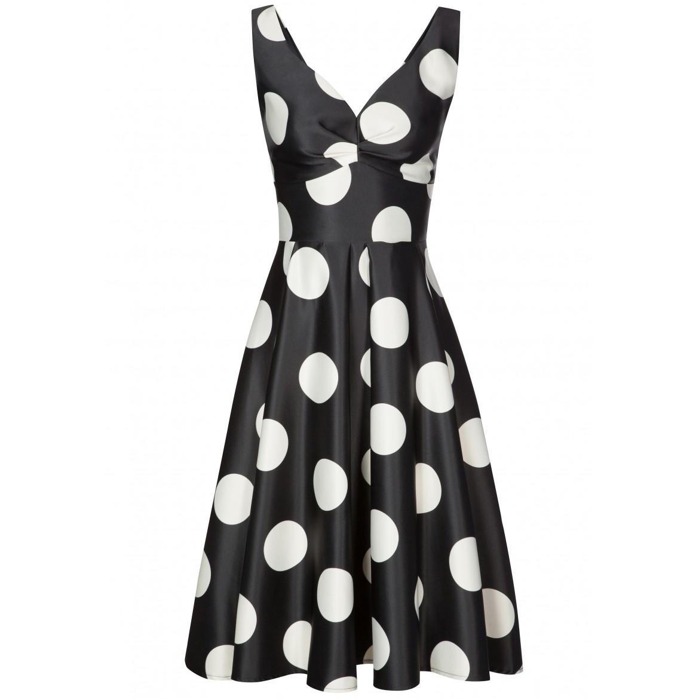 Elegantes Kleid PIA mit stilvollem Punkte-Dessin