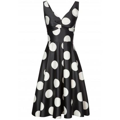 Elegantes Kleid PIA mit stilvollem Punkte-Dessin /