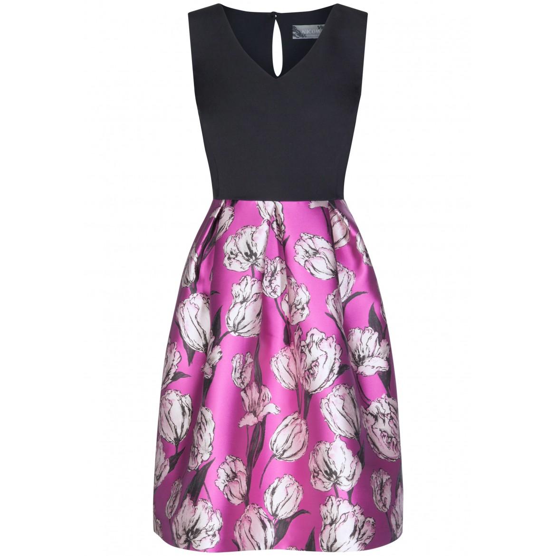 Schwungvolles Kleid NORA mit femininem Blumen-M...