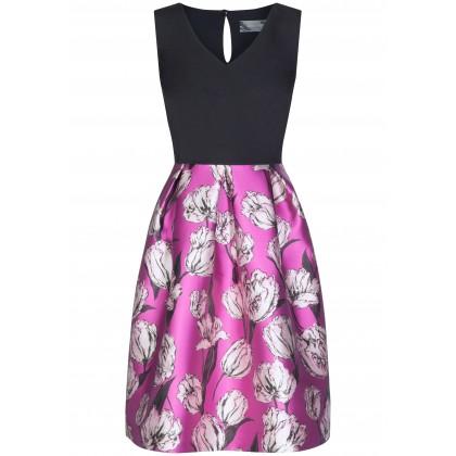 Schwungvolles Kleid NORA mit femininem Blumen-Muster /