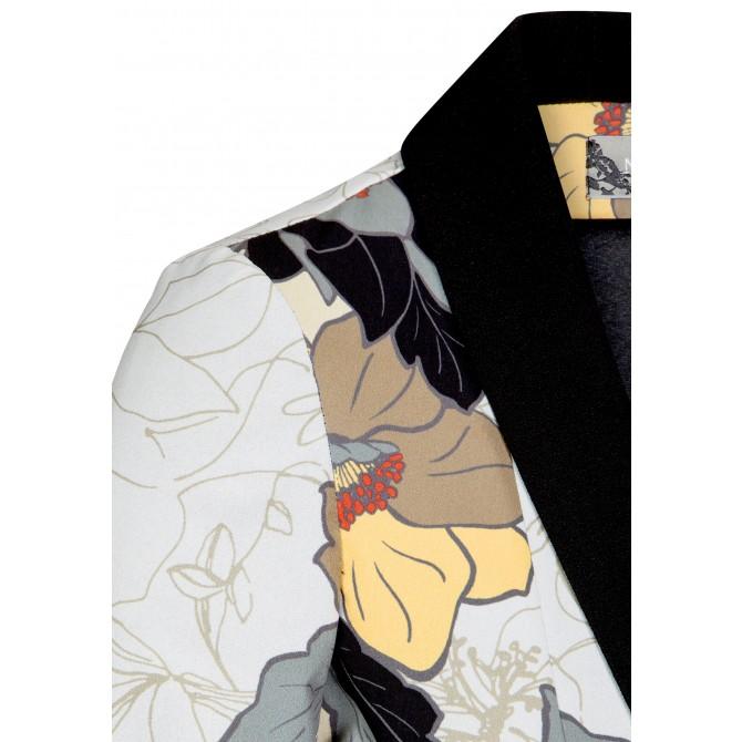 Eleganter Blazer MIRA mit Blumen-Dessin /