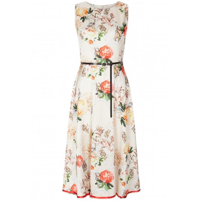Stilvolles Kleid AVA mit edlem Blumenmuster /
