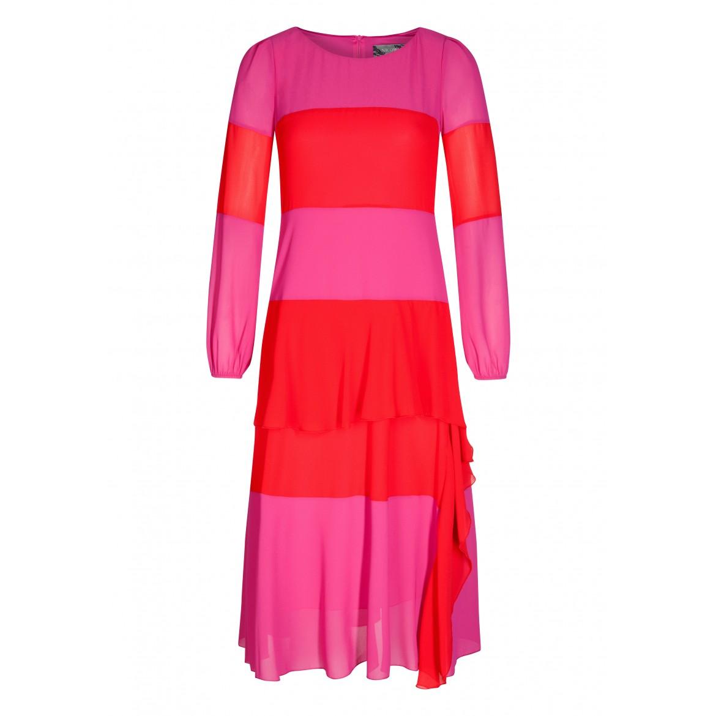 Stilvolles Kleid STELLA mit modischem Streifen-...