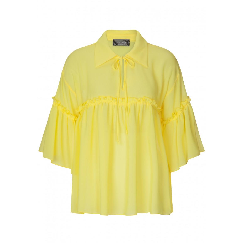 Bezaubernde Bluse JULE mit stilvollen Rüschen-D...