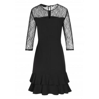 Elegantes Kleid MERLE mit stilvollen Spitzen-Details /