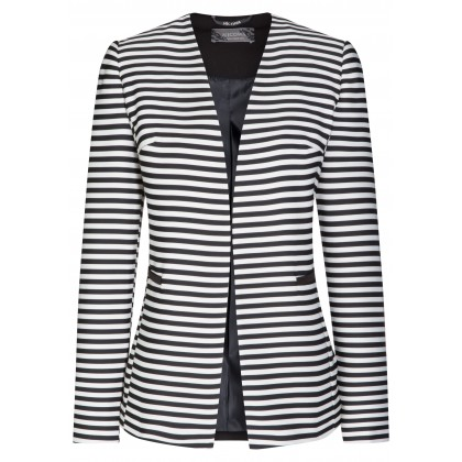 Stylish blazer AMALIA with trendy striped design /