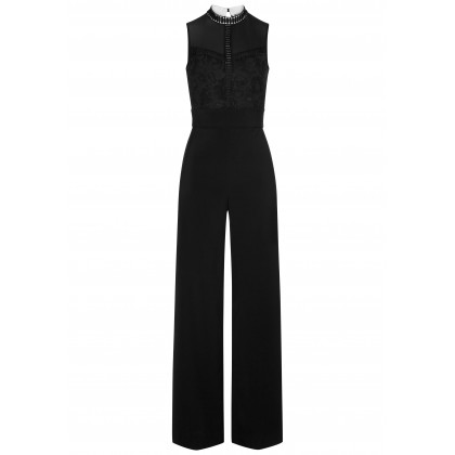 Elegant overalls THEA with stylish lace details /