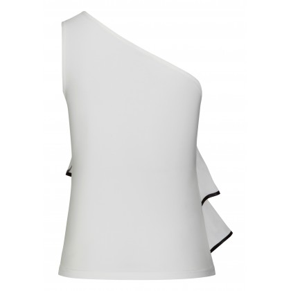 Classy SELINA top with fashionable one-shoulder strap /