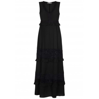 Luxurious maxi dress DESIA with stylish lace details /