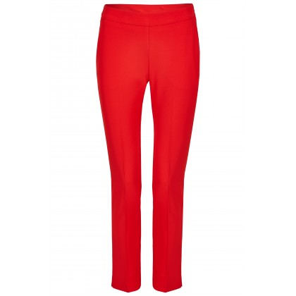 NICOWA - Classic trousers OICONA in red with crease /