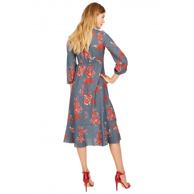 NICOWA – Elegantes Kleid OGRATA in toller Farbkombination /