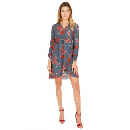 NICOWA - Sophisticated mini dress ICRISTA with floral pattern /