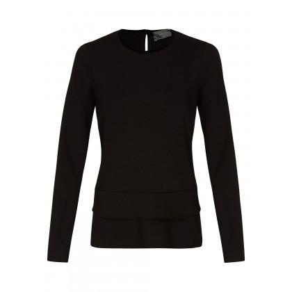 NICOWA – Sweatshirt Oberteil OGENIA mit Rüschendetails /