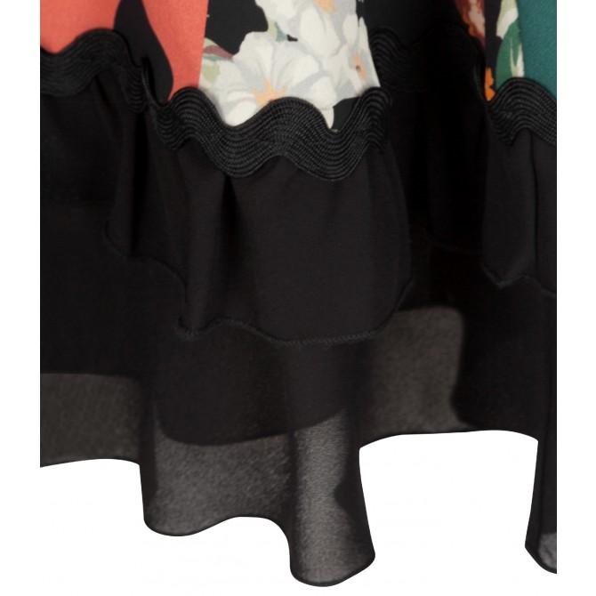 NICOWA - Stilvolles Minikleid ONILLA mit Mustermix /