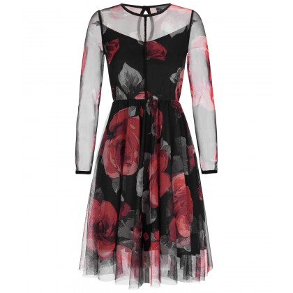 NICOWA - Refined ONILVA dress with classy rose design /