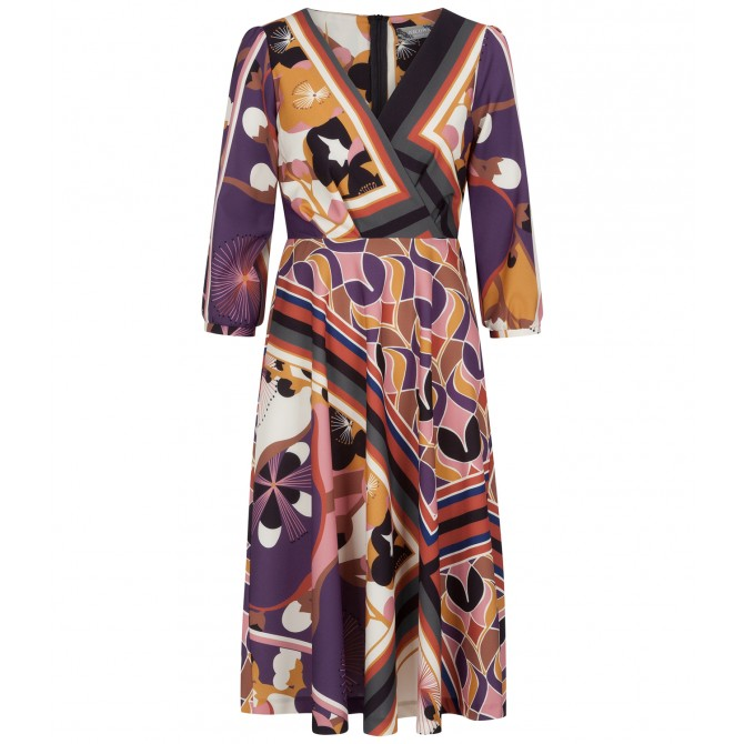 NICOWA - Printreiches Kleid NISORA in Midilänge /