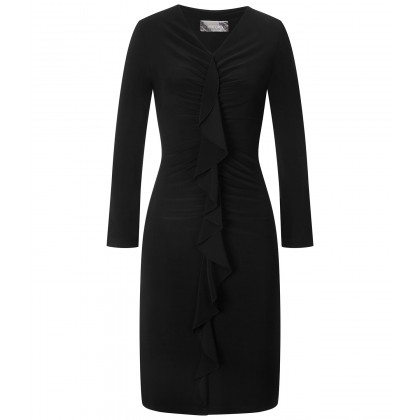 NICOWA - Tight-fitting dress NIDALMA with flounce element /