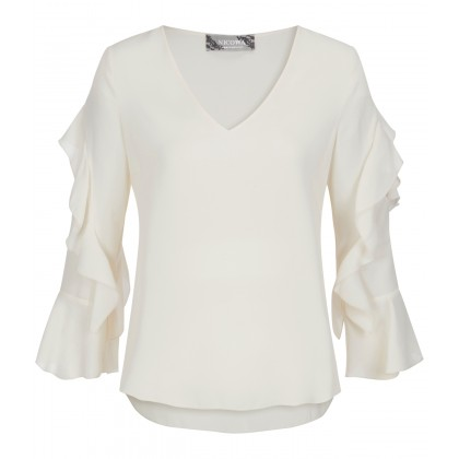 NICOWA - Flowing OTONINA blouse with flounce details /