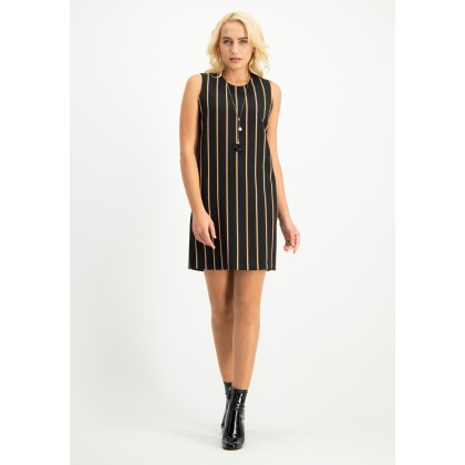 Chic dress AFIORENTE with stripes /