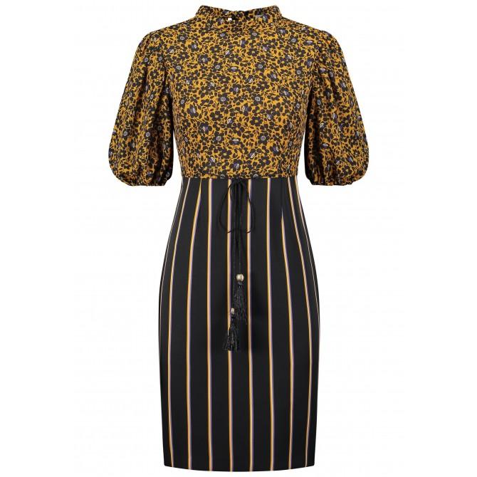 Feminines Kleid AFLENA im Muster-Mix /