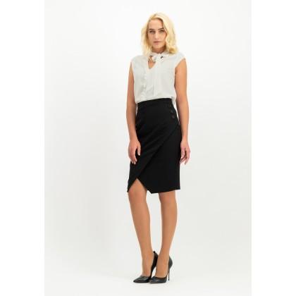 Elegant skirt NERINNE in wrap-style /