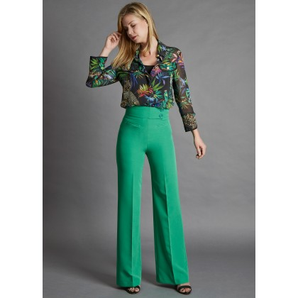 Elegant COREANA high-waisted trousers with wide leg /
