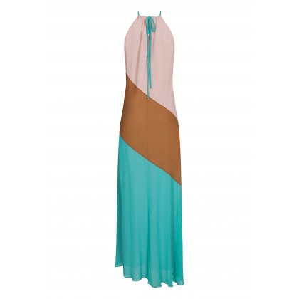 VANIA maxi dress with halter neck /