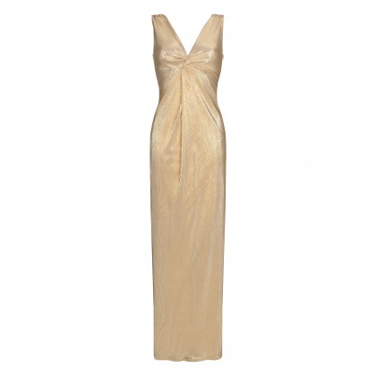 Elegant ALISELA evening dress with metallic look /