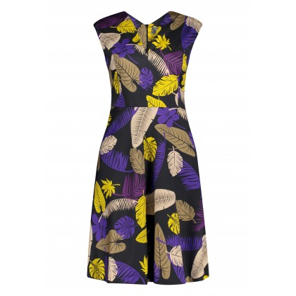 ONIVEL dress with tropical pattern /