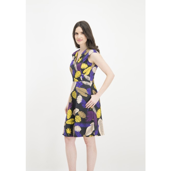 Tropisch gemustertes Kleid ONIVEL /