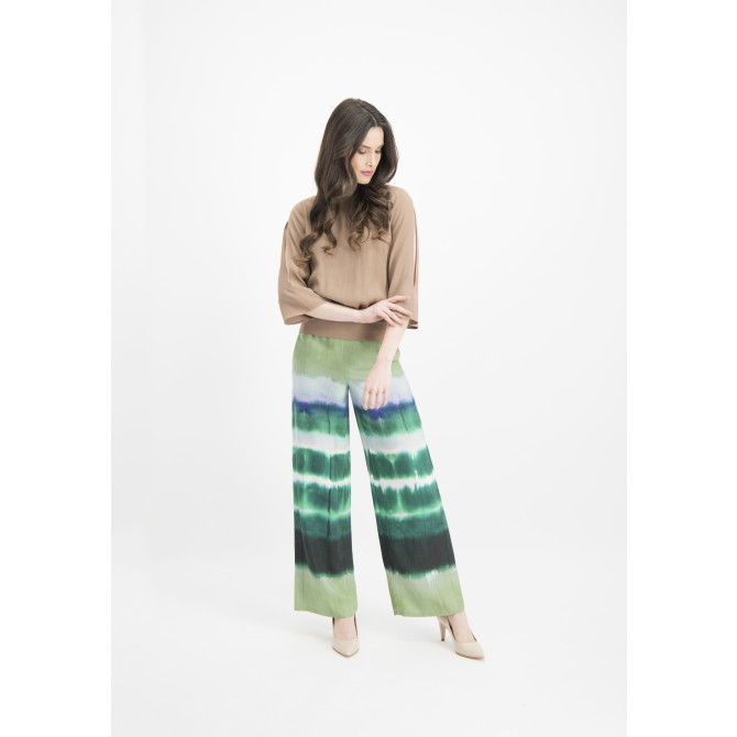 Lässige Hose ANELLA mit Batikmuster /
