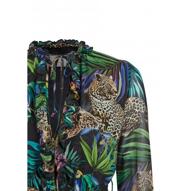 Maxi-Kleid mit tropischem Allover-Print – ANIWA /
