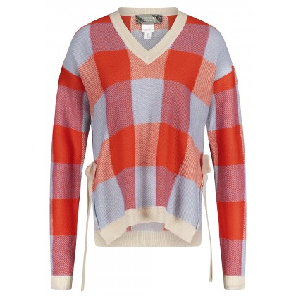 Boxy jumper with large check design – GIONO /