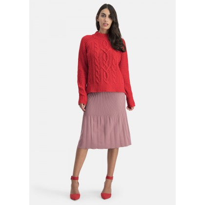 Knit jumper in trend colour – SANBETA /